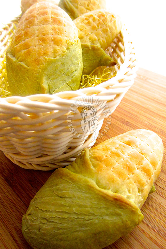 yeast corn bread 简易玉米面包 (*´・v・)